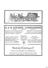 Elastolin Illustrated Cataloque F of Elastolin and Wooden Toy Manufactures, O. & M. HAUSSER, LUDWIGSBURG